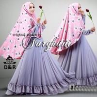 [gamis eleza syari DR] baju muslim wanita twistcone ungu Terbaru