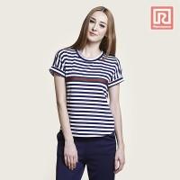 Kaos Wanita Stripes Red Line Jj Jeans (07903177)