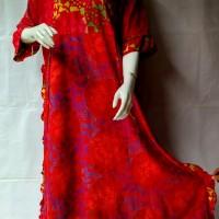 Jual long dress baju daster batik joda longdress bahan adem bagus murah Murah
