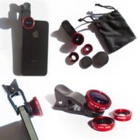 Lensa Jepit Kamera HP 3in1 (Lensa Fish Eye, Lensa Wide dan Lensa Macro