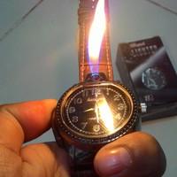 Jam Korek Api Gas Murah / Jam Tangan Korek Lighter Diskon