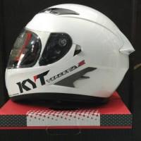 Helm KYT Vendetta 2 White Glossy Solid Vendeta Visor Fullface