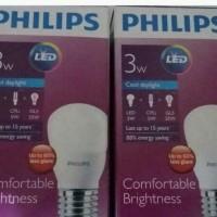 Jual Lampu LED Philips 3 watt Bohlam 3w / Philip Putih 3 w Bulb LED 3watt Murah
