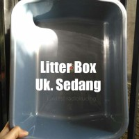 Litter Box Sedang (Box Tempat Pup Pipis) Kucing Kelinci Hamster