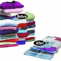 Jual Vakum / Vacum Travel Bag Vacuum Wadah Pakaian Baju Boneka Bed Cover Ha Murah