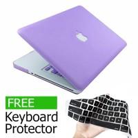 Case Macbook Pro 13, Ungu Purple Matte Rubberized Hard / Casing New