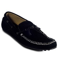 Country Boots - Knitting Moccasin Black | Sepatu Casual Pria