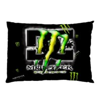 Sarung Bantal Custom Monster Energy DC 45x65 cm gambar 2 sisi