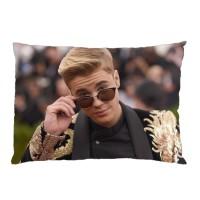 Sarung Bantal Custom Justin Bieber 45x65 cm gambar 2 sisi #1201