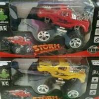Rc Mobil Bigfoot Storm Warna Merah / Kuning Skala 1:24 Mainan Anak