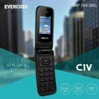 HP EVERCOSS C 1 V / C1V DUAL SIM FLIP PHONE GARANSI 1 TAHUN