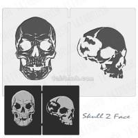 Stencil Cetakan gambar airbrush tengkorak atau skull