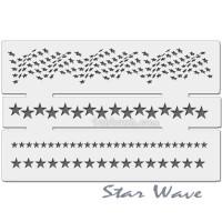 Stencil cetakan gambar Bintang - Star