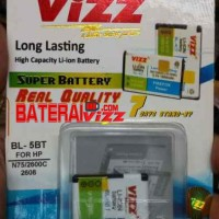 Battery Double Power Vizz Nokia BL-5BT BL5BT 2000 Mah
