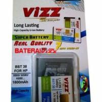 harga Battery Double Power Vizz Sony Ericsson Soner BST38 BST-38 1800Mah Tokopedia.com