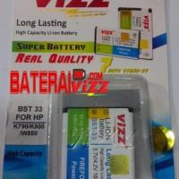 Battery Double Power vizz Sony Ericsson Soner BST33 BST-33 1600 Mah