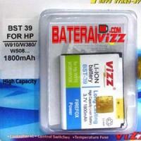 Battery Double Power Vizz Sony Ericsson Soner BST39 BST-39 1800Mah