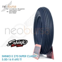 ban SHINKO E270 (U) 5.00-16 Black (69S) Super Klasik / Kustom