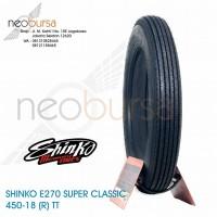 ban SHINKO E270 (U) 4.50-18 black (70H) Super Klasik / Kustom