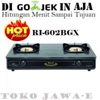 Kompor Gas Rinnai 2 Tungku RI-602 BGX Api Tornado