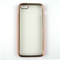 iPhone 5/5s/SE Simple Luxury Shining TPU Soft Case Rose gold