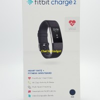Fitbit Charge 2 Heart Rate GPS Fitness Wristband Smartwatch Black L
