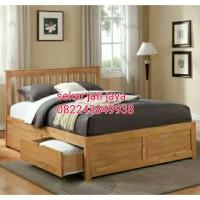 Tempat tidur dipan ranjang bahan full jati