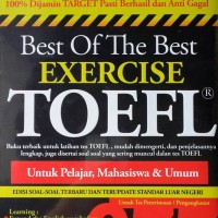 Buku The Best Exercise Toefl 677: latihan tes soal terbaru/ori