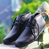 sepatu icon brodo taka black original handmade