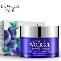 BIOAQUA Wonder natural Blueberry Sleeping Mask Masker Tidur Face Muka