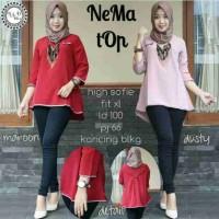 NEMA TOP / baju wanita model terbaru / blouse kemeja/ baju kerja