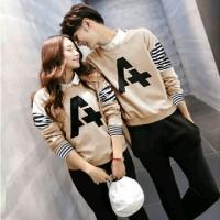 AL# couple A choco *baju couple lengan panjang A *coule salur* sale