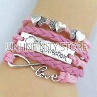 JWLB0032.Pink Gelang Multi Charm One Direction Infinity Diskon