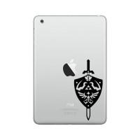 Sticker Decal Apple iPad Mini Air - Zelda Shield and Sword - Rina Shop
