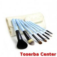 7 Set Hair Makeup Brush Set Animal Model / Kuas Wajah - White/Blue