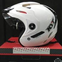 Helm KYT Venom RR2 White Glossy Solid Halface RR Visor Halface