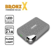 Jual Hippo Powerbank Bronz x Simple Pack 7500mAh Dual Output Original 100% Murah