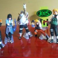 1Set Action Figure Naruto, Sasuke, Kakashi, Minato, Killer Bee / Hobi