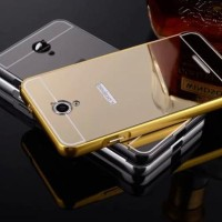 COOLPAD SKY E501 Bumper Mirror (Aluminium Metal Bumper+hard Back Case)