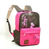 harga Tas Ransel Summer Eifel - Cokelat Pink / Tas Laptop Cewek / Wanita Tokopedia.com