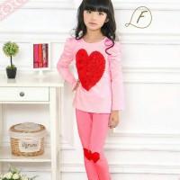 pakaian anak perempuan / gwff baju kaos setelan piyama