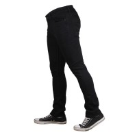Cressida Skinny Stretch Cotton Denim Black For Men