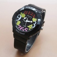 Jam Tangan Wanita branded Fortuner FR2500 Original Rubber Black