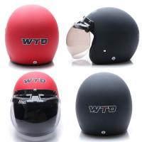 harga [Helm Dewasa] WTO Helmet Retro Bogo - POLOS - Kaca BOGO Tokopedia.com
