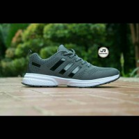 SNEAKERS SEPATU ADIDAS ZX FLUX GREY RUNNING IMPORT GRADE ORIGINAL | 41