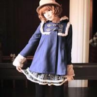 Jaket Coat Wanita Fur Lining Toggle Coat Japan Korean Style Cute Lucu