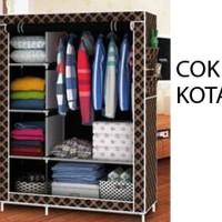Jual Lemari Pakaian Multifunction / Cloth Rack with cover Murah