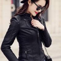 Jual Hott 2016 style korean leather pu jaket kulit wanita 3 Murah
