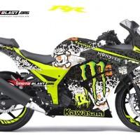 Decal Stiker Ninja 250R Karbu Drift Monster
