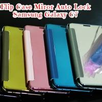 Flip Case Miror S View+Auto Lock Samsung Galaxy C7